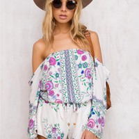 Seeker Of Truth Floral Playsuit