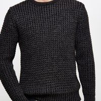 The Idle Man Shaker Knit Jumper Black