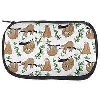 Sloth Pattern Nature Leaves Cute Travel Bag