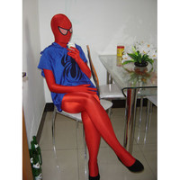 Lycra Spandex Red Spiderman Costume Full Body with Blue Vest [TWL110916021] - $36.99 : Zentai, Sexy Lingerie, Zentai Suit, Chemise
