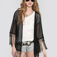 KNIT TASSEL GYPSY JACKET