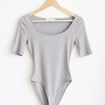 Candice Bodysuit - Heather Gray