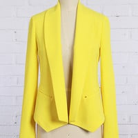 Amazed By You Blazer- Yellow **PREORDER SHIPS APRIL 4TH**