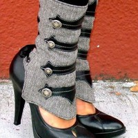 New Black Point Toe Stiletto Rivet Patchwork Fashion Mid-Calf Boots