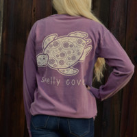 Berry Paisley Long Sleeve Pocket Tee