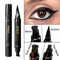 Double End Seal Liquid Eyeliner Pencil Maquiagem Quick Dry Waterproof Wing Eye Liner Stamp Eye Pencil Beauty Makeup Tools & Set