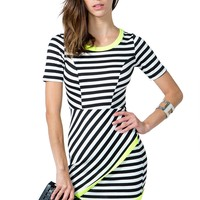 Electric Stripe Origami Dress