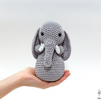 Elephant Plush, Elephant Stuffed Animal, Elephant Plushie, Elephant Stuffed Toy, Crochet Elephant