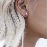 Bailey Bar Earring - Black/Gold/Silver