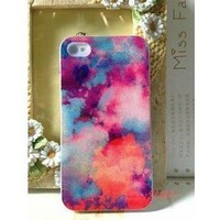 [grdx02062]Abstract Colourful Shading Hard Cover Case For Iphone 4/4s/5