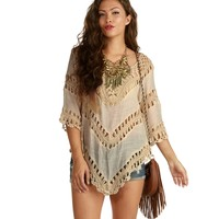 Ivory Voyager Crochet Top