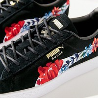 Puma Basket Heart Hyper Embroidered Sneaker   Urban Outfitters