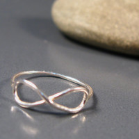 Infinity ring sterling silver, infinity jewelry, engagement ring