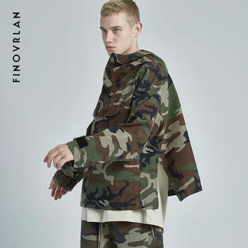 Trendy harajuku  Fear of God clothing tactical army High street camouflage jackets men coats military anorak camo jacket windbreaker AT_94_13