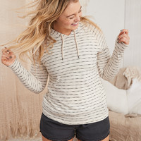 Aerie Textured Beach Hoodie, Natural