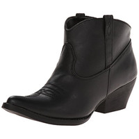 Spite Womens Steele Faux Leather Detail Stitching Ankle Boots