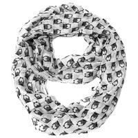 Wise Owl Infinity Scarf- White