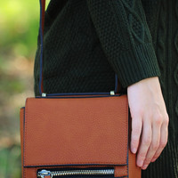 Anything But Ordinary Purse: Cognac/Gold