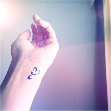 5pcs Open Heart Tiny Tattoo - InknArt Temporary Tattoo -  pack tattoo collection quote wrist neck ankle body sticker fake tattoo