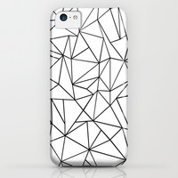 Abstract Outline Black on White iPhone & iPod Case by Project M | Society6