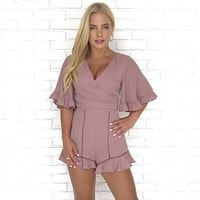 Still The One Mauve Ruffle Romper