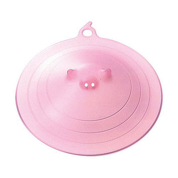 Piggy Microwave Plate Cover - Pink
