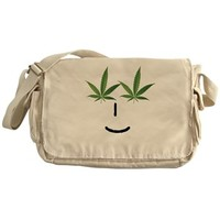 Pot Head Emote Messenger Bag> The Pot Head Emote> 420 Gear Stop