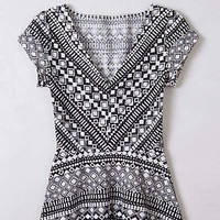 Anthropologie - Diamond-Knit Peplum Top