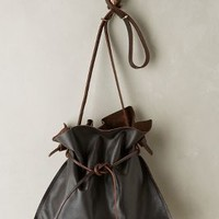 Cinched Leather Tote by Specialty Dry Goods Chocolate One Size Bags