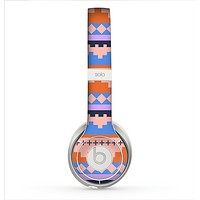 The Pink-Blue & Coral Tribal Ethic Geometric Pattern Skin for the Beats by Dre Solo 2 Headphones