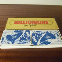 "Vintage 1984 Card Game ""Billionaire The Game"" by Crown & Andrews / Retro Taxman Card Trading Game / Commodity / 3 to 8 Players"