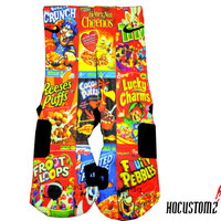 Cereal Boxes Custom Nike Elite Socks ALL SIZES!!