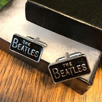 The Beatles Rectangle Novelty Cuff Links