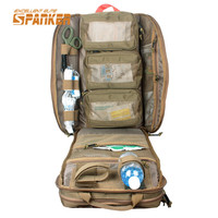 SPANKER Tactical MOLLE Medical Backpack Military First Aid Kit Backpack Emergency Assault Combat Rucksack Outdoor Hunting Bags