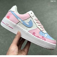 Samplefine2 NIKE AIR FORCE 1 Women Fashion Cartoon Casual Casual Shoes F-CSXY