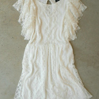 Romantic White Ruffle Dress [4344] - $32.00 : Vintage Inspired Clothing & Affordable Summer Frocks, deloom | Modern. Vintage. Crafted.