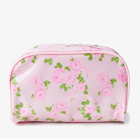 FOREVER 21 Rosebud Cosmetic Pouch Light Pink/Pink One
