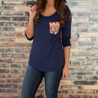 Cast a Spell Navy Blouse