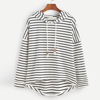 korean harajuku hoodies and sweatshirts for women woman stripe long sleeve hoody jumper loose moletom busos para mujer 2017