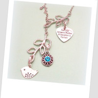 Mother and Daughter Necklace, Mother and Child Necklace, Birthstone Necklace for Mom, Mother's Gift from Daughter, Necklace for Mom