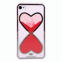 Love Heart-Shaped Hourglass Hard Cover Case For Iphone 5