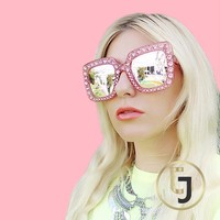 Julia Jolie Beverly Hills Sunglasses- Exclusive Edition- Shine like a Diamond! Pink