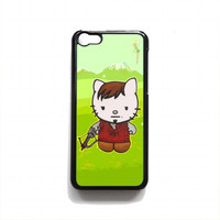 Cute Daryl Dixon Hello Kitty The Walking Dead For iPhone 5c case