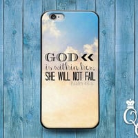 iPhone 4 4s 5 5s 5c 6 6s plus iPod Touch 4th 5th 6th Generation Cute Girly Girl Woman Bible Quote God Strength Phone Cover White Cloud Case