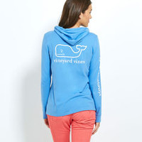 Women's Long-Sleeve Tees: Long-Sleeve Printed Whale Hoodie Tee for Women - Vineyard Vines