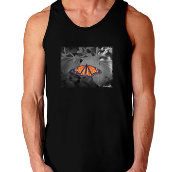 Monarch Butterfly Photo Dark Loose Tank Top