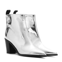 acne studios - loma metallic leather ankle boots