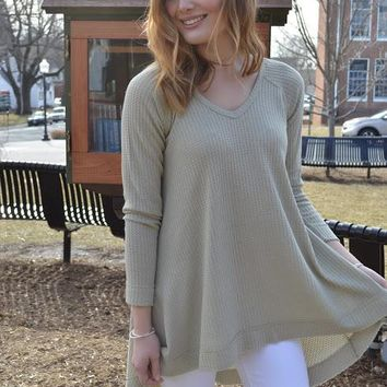 Southern Comfort High-Low Waffle Top