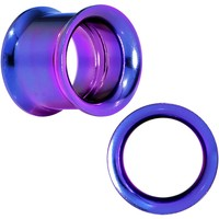 13mm Purple Anodized Titanium Steel Internally Threaded Screw Fit Plug
