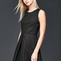Linen-cotton fit & flare dress